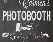 Carnival Circus Chalkboard Photo Booth Photobooth Props Sign Girl Boy Birthday Party Bridal Baby Shower Wedding Digital DIY