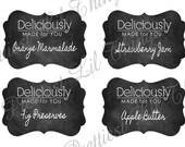 Shabby Chic Country Chalkboard Labels For Food Canning Mason Apothecary Jars Storage Organization
