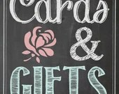 Shabby Chic Vintage Chalkboard Sign Graduation Party Cards and Gifts Birthday Bridal or Baby Shower Wedding Digital