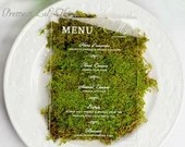 Clear Acrylic Wedding Menu Classic Elegant Lucite Thin or Thick Reception Table Place Setting Entree Menus