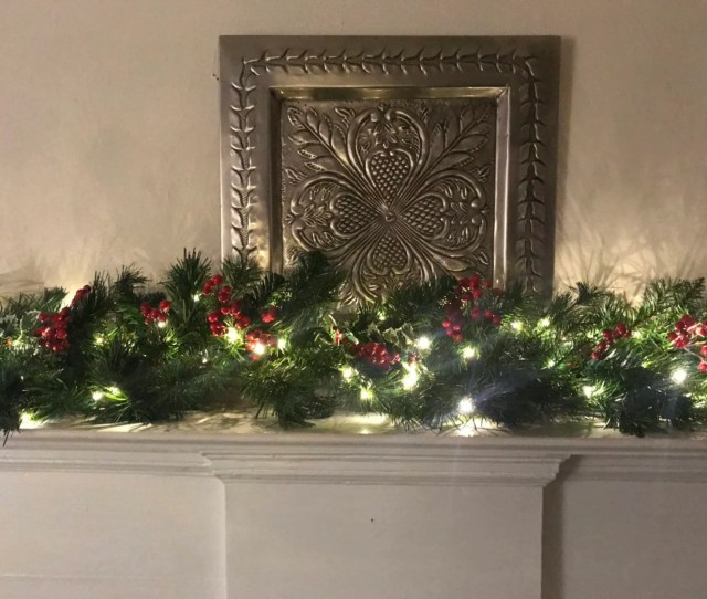 Christmas Garland Christmas Mantle Garland Red Berries Holly Berry Pine Mantle Garland Staircase Garland Christmas Decor