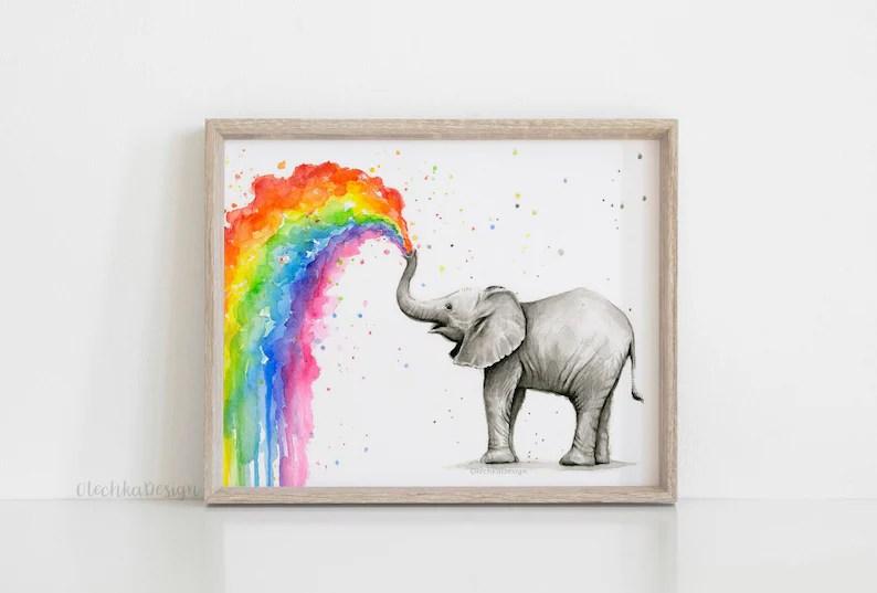 elephant nursery elephant art