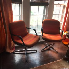 Steelcase Vintage Chair Helinox Tactical Etsy Pair Of Striped Chairs Red Orange