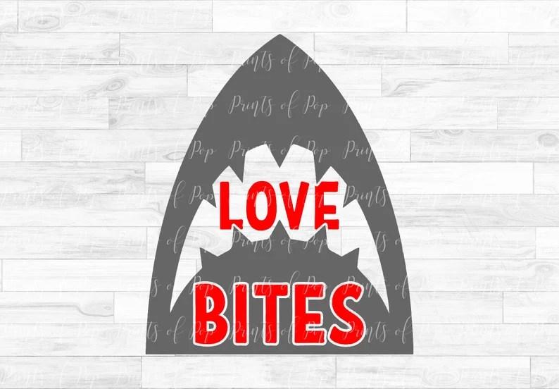 Download Shark svg Love Bites Shark Clip Art Valentine's Day | Etsy