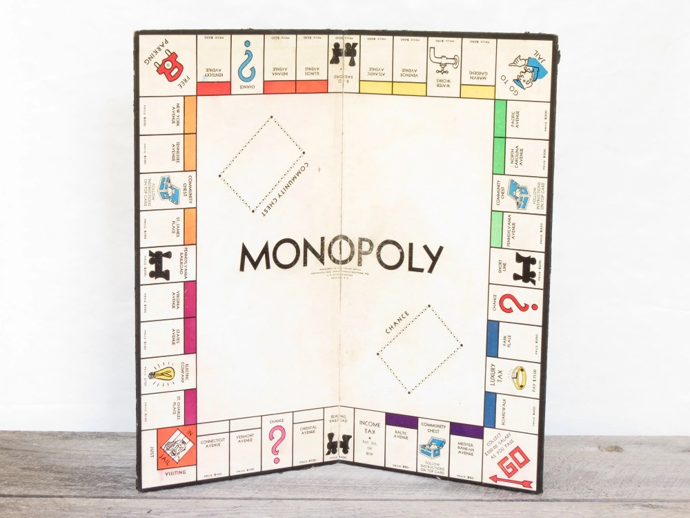 medium resolution of 50 vintage 1935 monopoly board