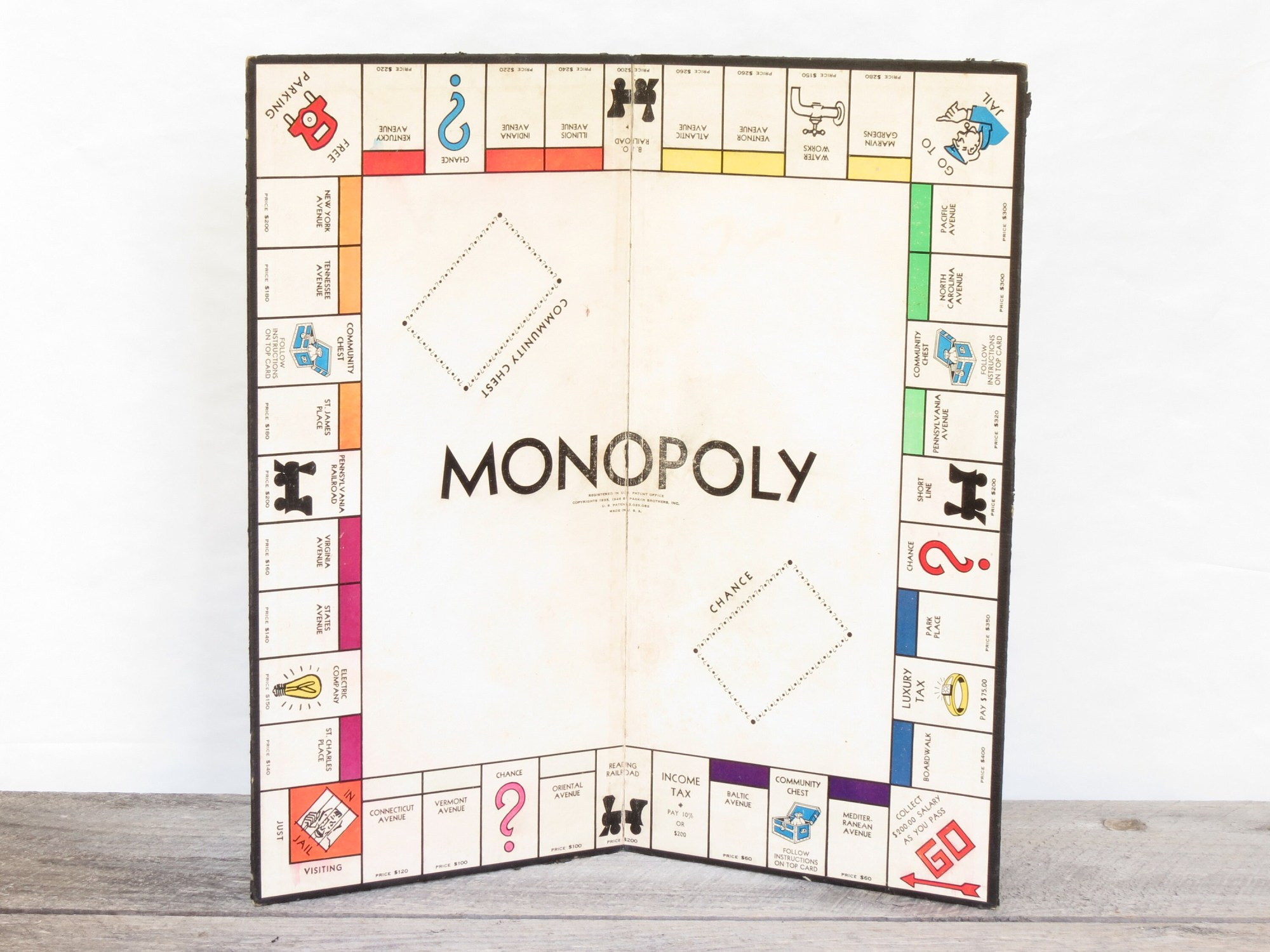 hight resolution of 50 vintage 1935 monopoly board