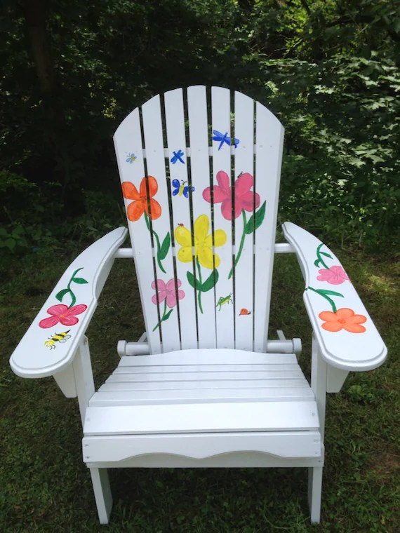 painted adirondack chairs space saver high hand chair etsy image 0