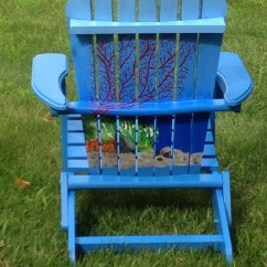 Paint For Adirondack Chairs How Much To Reupholster A Chair Hand Painted Etsy Image 0
