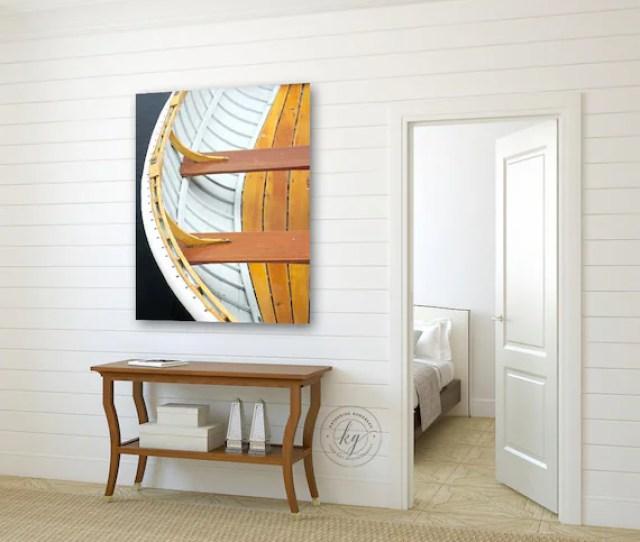 Coastal Canvas Print Beach House Art Boat Photograph Nautical Etsy