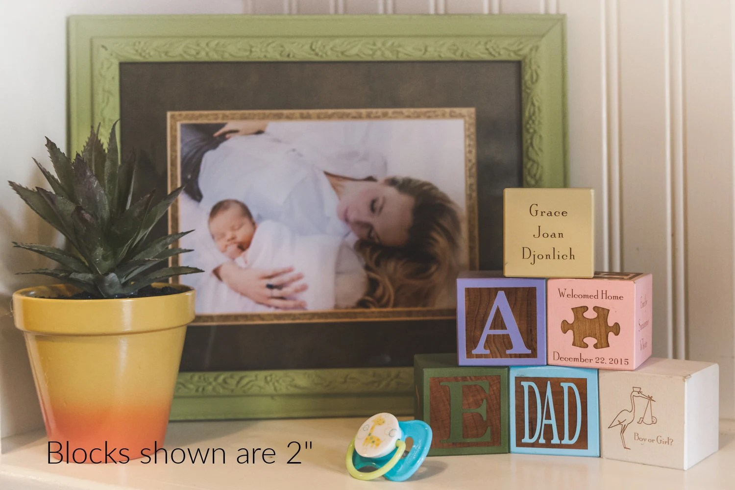 Personalized Baby Block  Wooden Baby Block  Unique Baby Gift image 9