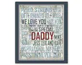 Items Similar To Personalized Fathers Day Art Anyone Can