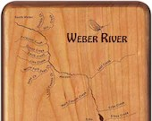 WEBER RIVER MAP Fly Box -...