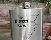 Big Horn River Map FLASK ...