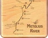 METOLIUS RIVER Map Fly Bo...