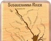 SUSQUEHANNA River Map Fly...