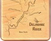 DELAWARE River Map Fly Bo...