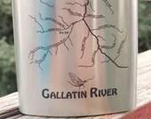 Gallatin River Map FLASK ...