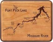 Fort Peck Lake River Map ...
