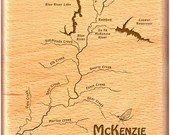 McKENZIE RIVER Map Fly Bo...