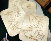 RIVER MAP COASTERS 4.25 X...