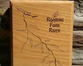 ROARING FORK River Map Wa...