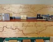 BIG HORN River Map Mantle...