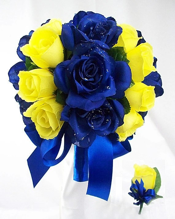 navy blue and yellow