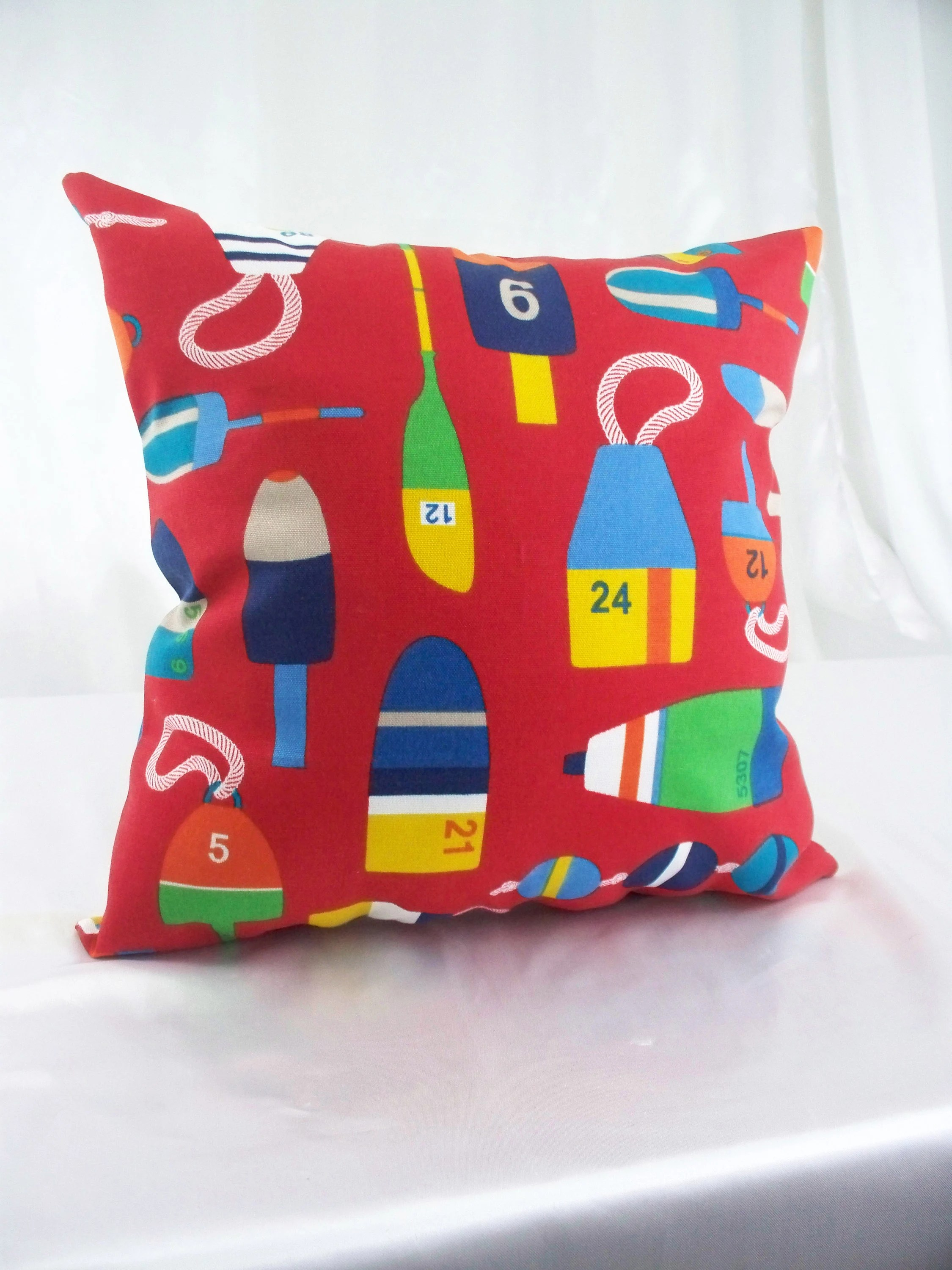 red accent pillows red