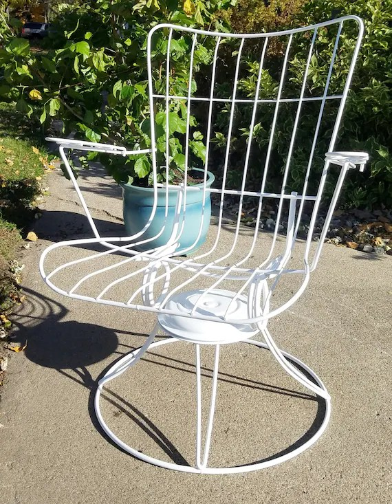 vintage mid century modern patio lounge chair by homecrest etsy