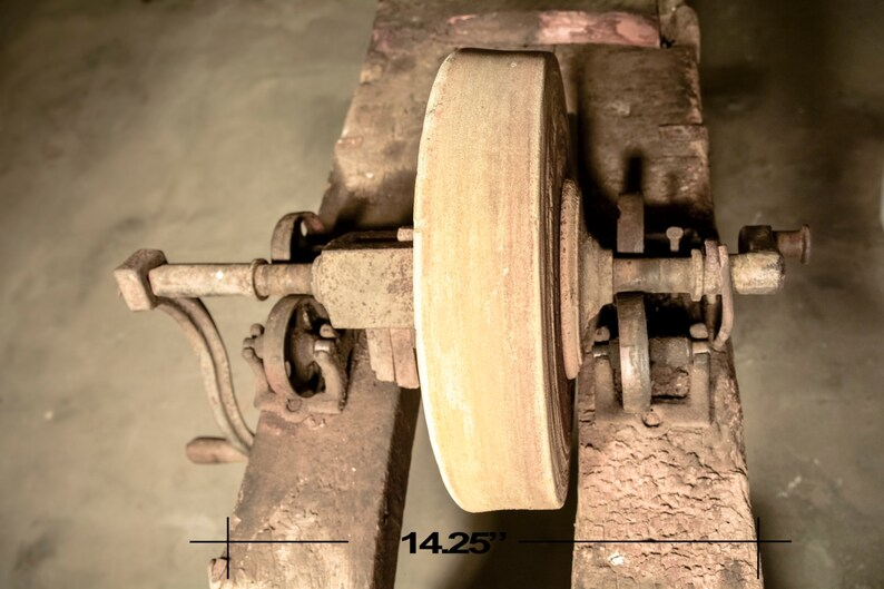 Antique Grinding Wheel Stand