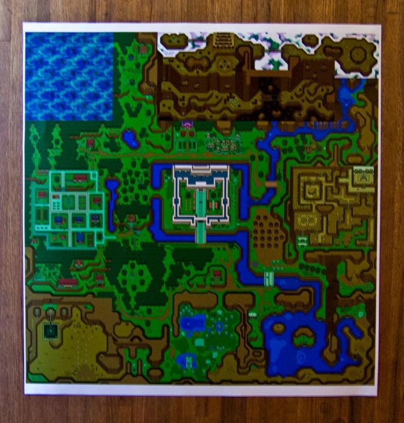 hyrule map legend of