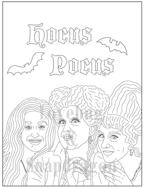 Hocus Pocus Coloring Book // Instant Printable Digital