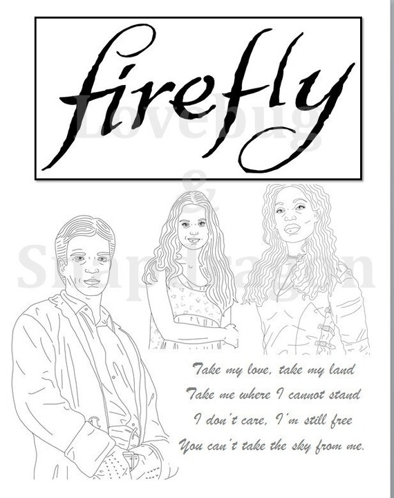 Firefly & Serenity Coloring Book // Instant Printable