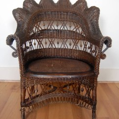 Antique Wicker Chairs Wing Dining Chair Etsy Heywood Wakefield Not Marked With Footrest Circa1900