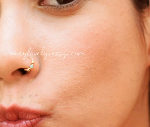 Gold Nose Ring Gold Nose Hoop Indian Nose Ring Tribal Nose Ring