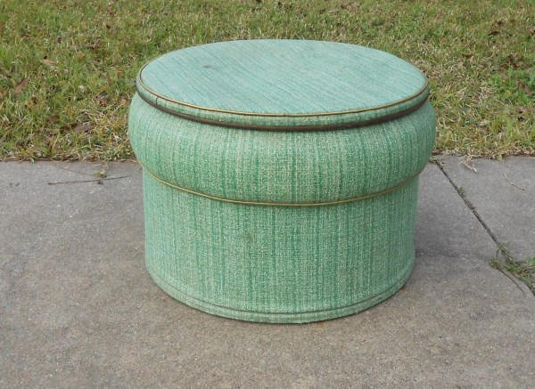 Funky Vintage Ottoman Hassock Pouf Seat Bench With Storage