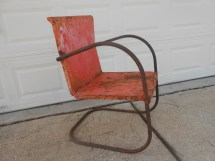 Antique Metal Lawn Chair Rusty Shabby Chic Cottage Porch