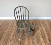 Rustic Wood Chair, Farmhouse Chair - Grey Dining Chair ...