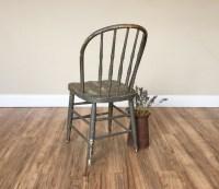 Gray Primitive Windsor Chair - Antique Furniture - Rustic ...