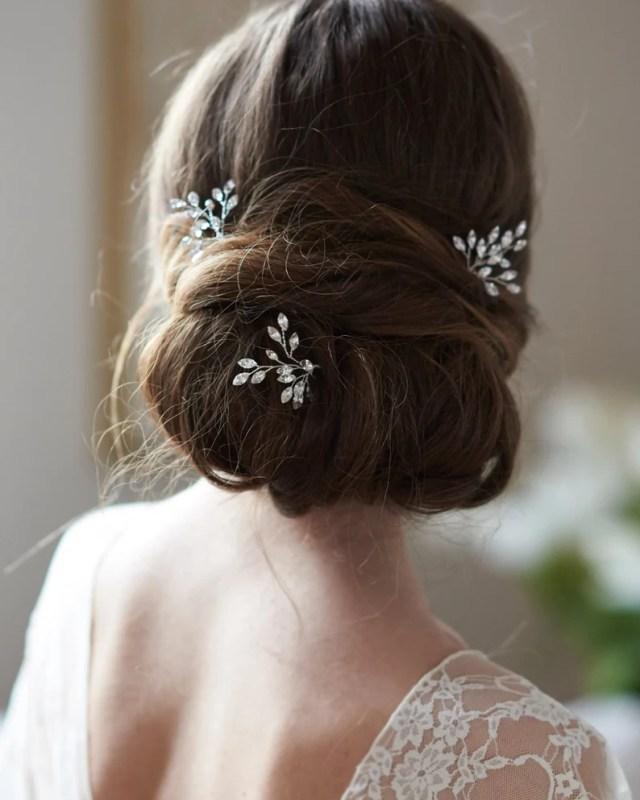 crystal bridal hair pins, silver crystal wedding hair pins, bridal hair pin, crystal wedding hair pins, hair pin, bridal hair pins ~ tp-2837