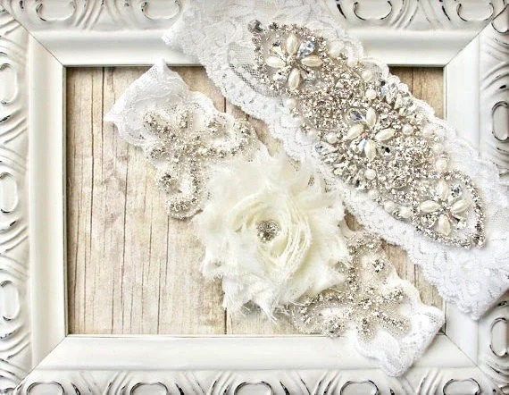 Wedding Garter Customize Your Set Unique Wedding Garter