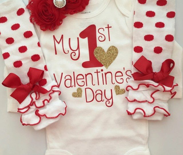 Baby Girl Outfit Baby Valentines Day Outfit Valentines Photo Shoot Prop My St Valentines Day Baby Infant Valentines