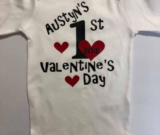 Baby Boy St Valentines Shirt Boy Valentines Outfit My First Valentines Bodysuit Boys Valentines  Valentines Day