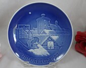 1977 Bing and Grondahl B G Christmas Collector Plate Copenhagen Christmas