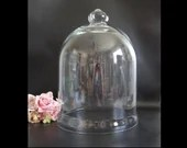 """Large Glass Display Cloche 15"""" Tall by 11.25"""" for Botanical or Collectible Display Cover Home Decor Piece Glass Display Case a Vintage Piece"""