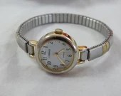Vintage Working Retro Timex Carriage Ladies Dual Tone Quartz Watch