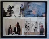 Original Star Wars Empire Strikes Back Set of 4 Framed Movie Lobby Cards -SW2