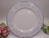 Vintage Oxford China Blue Lace Dinner Plate