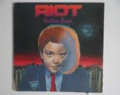 "Plays Well Vintage 1982 Riot ""Restless Breed"" RS 514 LP  Vinyl Album Heavy Metal Hard Rock"