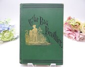 """Antique 1878 Hardcover Illustrated Book """"The Big Brother - A Story of Indian War"""" by George Eggleston"""